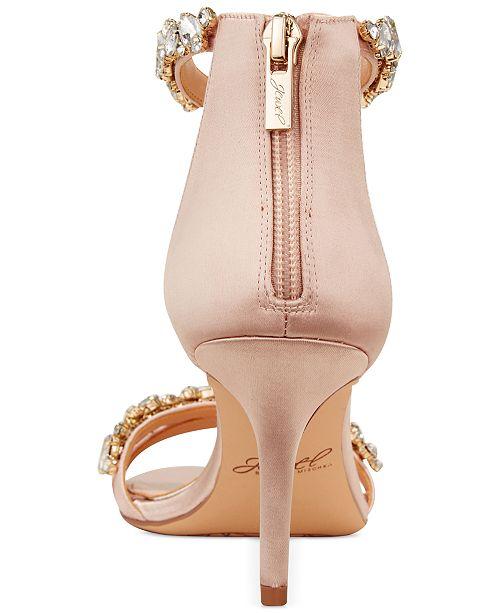 ac4139eab7813 ... Jewel Badgley Mischka Caroline Embellished Ankle-Strap Evening Sandals  ...