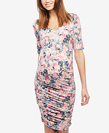 Motherhood Maternity Printed Sheath Dress