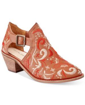 Kelsi Dagger Brooklyn Kline Embroidered Block-Heel Booties Women