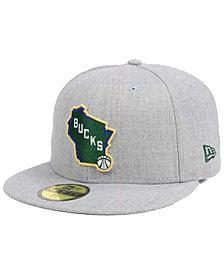 New Era Milwaukee Bucks All Heather 59FIFTY Cap