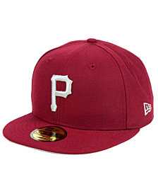 New Era Pittsburgh Pirates Cardinal Gray 59FIFTY Cap