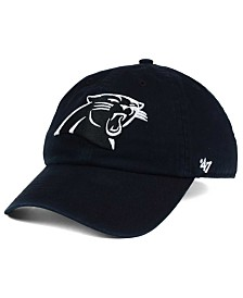 '47 Brand Carolina Panthers Black and White CLEAN UP Cap