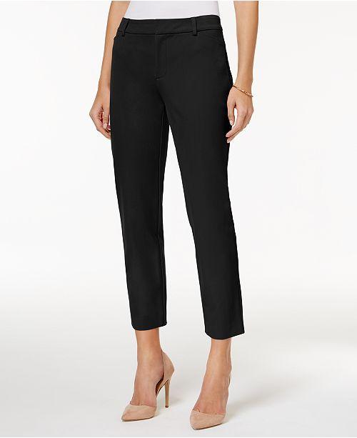 3053e24a3 Charter Club Newport Slim Leg Cropped Pants, Created for Macy's ...