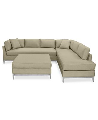 CLOSEOUT Sutton Place Outdoor 3 Pc Seating Set 1 Sofa 1 Chaise