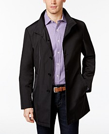 Men's Slim Fit Black Solid Raincoat