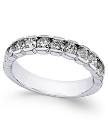 Diamond Channel-Set Band (1 ct. t.w.) in 14k White Gold