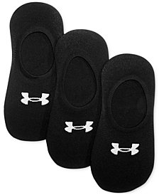 Under Armour Women's 3-Pk. Essential Ultra Liner Socks