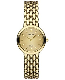Women's Dress Solar	Gold-Tone Stainless Steel Bracelet Watch 23mm SUP352