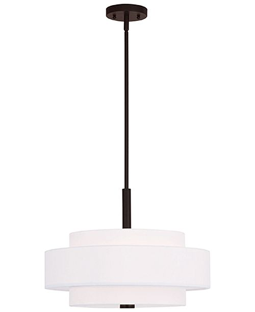 Livex Meridian 4- Light Metal Pendant