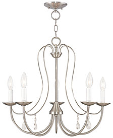 Livex Mirabella 5- Light Metal Chandelier