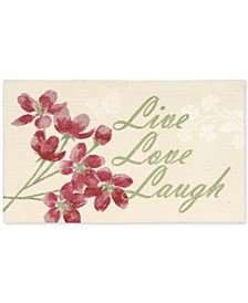 "Enhance Live Love Laugh 1'8"" x 2'8"" Accent Rug"