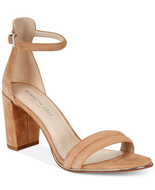 123317f27c Kenneth Cole New York Women's Lex Block-Heel Sandals & Reviews ...