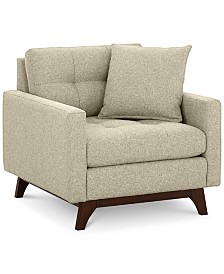 "Nari 36"" Fabric Tufted Armchair, Created for Macy's"