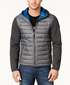 Michael Kors Men's Packable Hooded Quilted Jacket