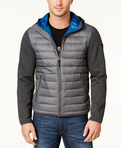 Michael Kors Mens Packable Hooded Quilted Jacket Coats Jackets