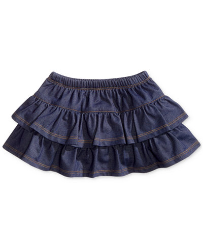 First Impressions Baby Girls' Denim Ruffle Scooter Skirt, Only at Macy's