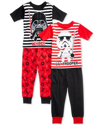 4-Pc. Star Wars Cotton Pajama Set, Toddler Boys (2T-5T) - Pajamas ...