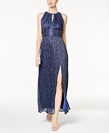 Petite Metallic Knit Gown