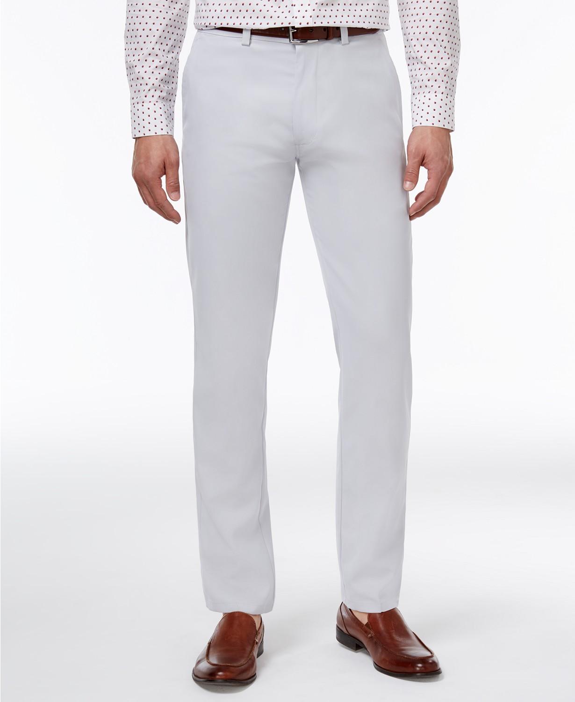 Kenneth Cole Reaction Slim-Fit Fine Twill Men's Techni-Cole Pants (Grey, Sand, Black or Blue)