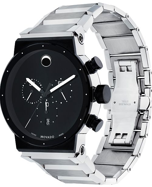 Men s Swiss Chronograph Sapphire Synergy Stainless Steel Bracelet Watch  42mm 0606800 4c1a17b56