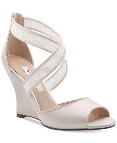 Nina Elyana Strappy Evening Wedge Sandals Sandals