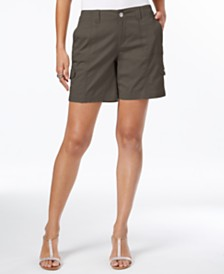 Style & Co Comfort-Waist Cargo Shorts, Created for Macy's