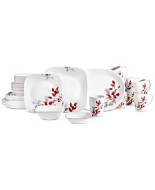 Corelle Kyoto Leaves 42-Pc. Set, Service for 8