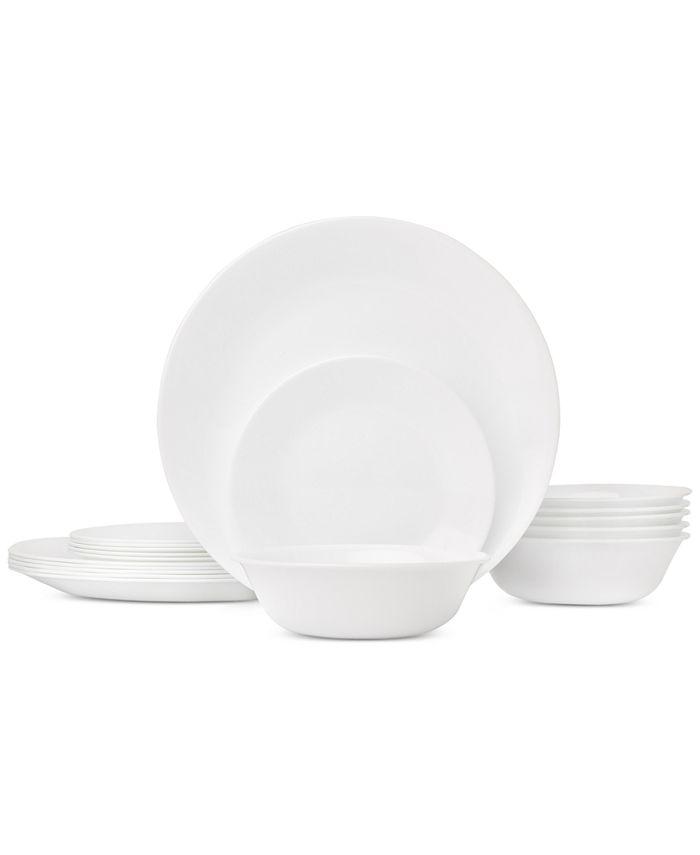 Corelle - White 18-Piece Dinnerware Set