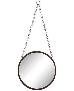 Round Metal-Framed Mirror...