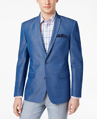 Bar III Men's Slim-Fit Medium Blue Sport Coat, Created for Macy's ...