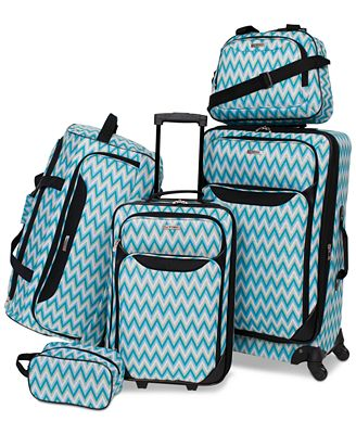 Tag Springfield III Printed 5-Pc. Luggage Set, Only at Macy's
