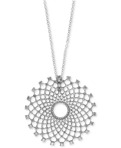 EFFY Collection Pavé Classica by EFFY® Diamond Pendant Necklace (2-1/3 ct. t.w.) in 14k White Gold