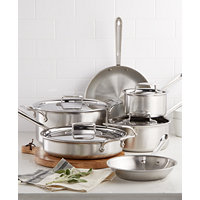 All-Clad D5 Brushed Stainless Steel 10-Pc. Cookware bloomSet