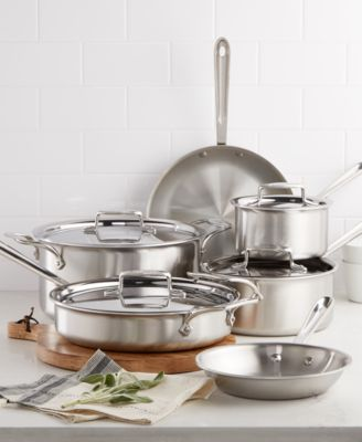 allclad d5 brushed stainless steel 10pc cookware set