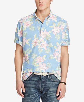 Polo Ralph Lauren Men's Floral-Print Oxford Shirt - Casual Button ...