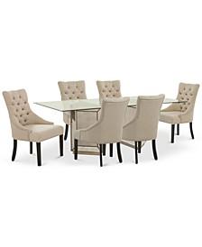 Sophia Dining Room 7-Pc. Set (76'' Table & 6 Marais Chairs)
