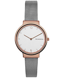 Skagen Women's Ancher Two-Tone Stainless Steel Mesh Bracelet Watch 34mm SKW2616