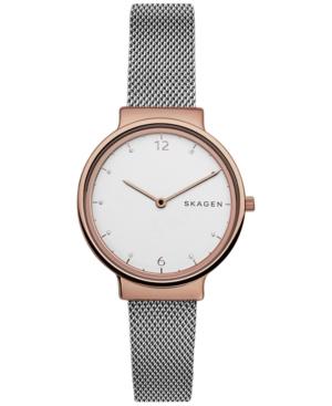 Skagen Women's Ancher Stainless Steel Mesh Bracelet Watch 34