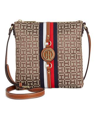 84a380f7c0fa Tommy Hilfiger Jaden Monogram Jacquard Crossbody - Handbags ...