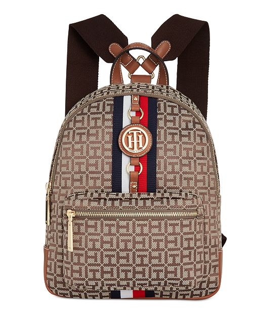 23ae6442a26 Tommy Hilfiger Jaden Monogram Jacquard Backpack & Reviews - Handbags ...