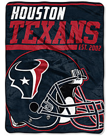 "Northwest Company Houston Texans Micro Raschel 46x60 ""40 Yard Dash"" Blanket"