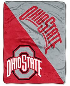 """Ohio State Buckeyes Micro Raschel 46x60 """"Halftone"""" Blanket"""