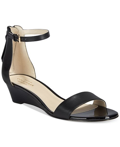 3120ed5d19ea Cole Haan Adderly Wedge Two-Piece Sandals   Reviews - Sandals ...