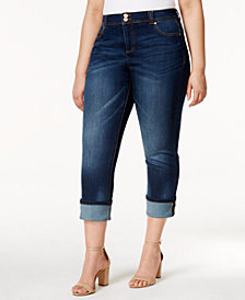 I.N.C. Plus Size Cropped Straight-Leg Jeans, Created for Macy's