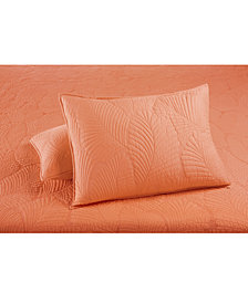 CLOSEOUT! Martha Stewart Collection  100% Cotton Atlantic Palm Standard Sham, Created for Macy's