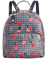 Tommy Hilfiger Julia Cherry Coated-Jacquard Small Dome Backpack