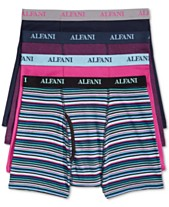 a9b23cf452 Alfani Men's 4 Pack. Cotton Boxer Briefs, Created for Macy's