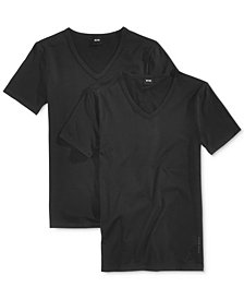 BOSS Men's 2 Pack V-Neck Undershirts