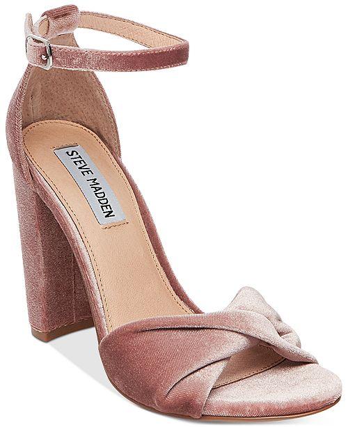 4ee5eab2afb Steve Madden Women s Clever Block-Heel Sandals   Reviews - Sandals ...