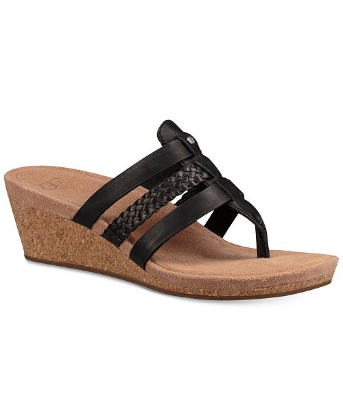 04714107d72f UGG® Women s Maddie Wedge Sandals   Reviews - Sandals   Flip ...
